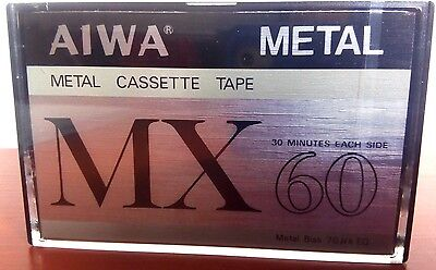 CASSETTE TAPE BLANK SEALED - 1x (one) AIWA MX 60 METAL [1979]   VERY RARE