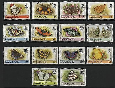 Swaziland 1987-1992 mixed selection butterfly definitives fine used stamps