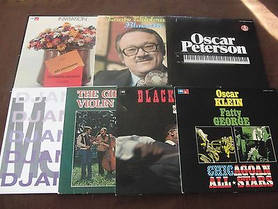9 LPs Oscar Peterson Toots Invitation Klein Black Violin Gipsy Ger. | M- to EX
