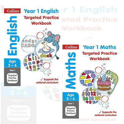 Collins KS1 Revision and Practice Collection 2 Books Set(Year 1 English & Maths)