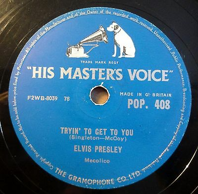 """Elvis Presley - Tryin´ To Get... - Lawdy, Miss... - His Master´s.. /10"""" 78 RPM"""