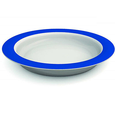 Ornamin Plate With Sloped Base - 26cm - Blue/White - PR65132/BL