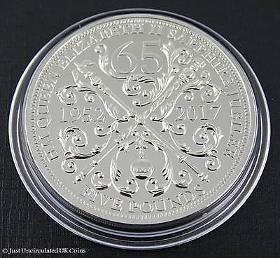 New 2017 Queens Sapphire Jubilee £5 Five Pound Coin BU Bailiwick of Guernsey