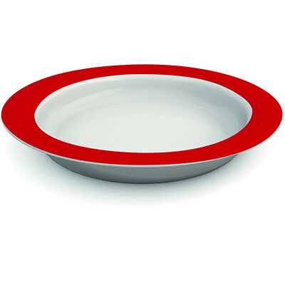Ornamin Plate With Sloped Base - 26cm - Red/White PR65132/RD