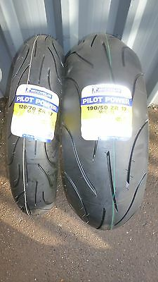 120/70-17 190/50-17 YAMAHA YZF-R1 Michelin Pilot Power Motorcycle Tyres, A Pair