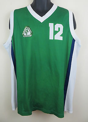 C.C.S.A Athletics Vest Retro Basketball Green American Cottonwood Creek Sport XL