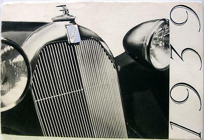 TALBOT 1939 Range Original Car Sales Brochure Oct 1939 French Text