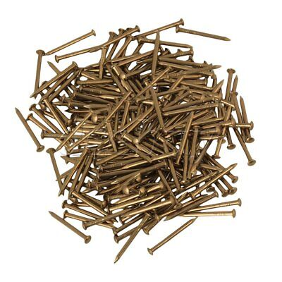 200x Brass Antique Brass Furniture Pure Copper Miniature Nail Round Head 18mm