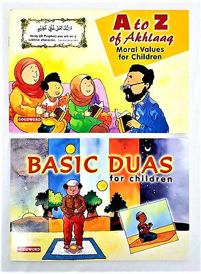 A to Z of Akhlaq / Basic Duas for Children - 2 Books