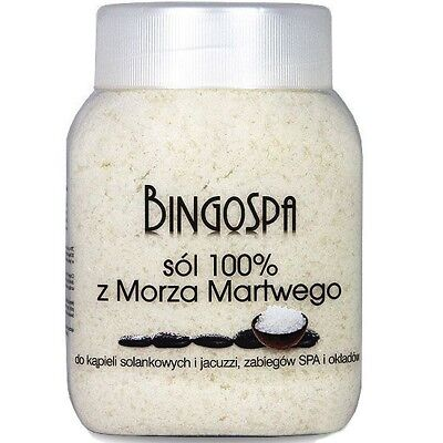 BingoSpa 100% Dead Sea Bath Salt for Bath Jacuzzi and Spa Treatments 1250g