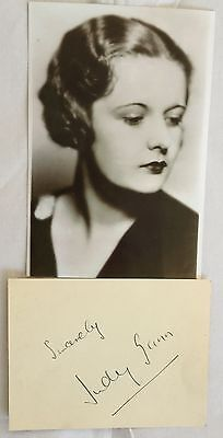 JUDY GUNN ( British Actress 1915 - 1991 ) Genuine Autograph. COA.