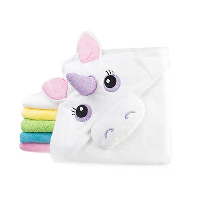 Baby Toddler Hooded Towel Unicorn, Monster, Frog 2 sizes hood Pink, Green, Blue