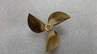 """7016/3 Brass propeller prop pitch 112mm 1/4"""" RC Boat"""