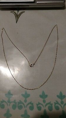14kt GOLD CHAIN  TINY DAINTY 16 inch Stamped 14kt  0.4 gram. !WOW!