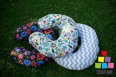 Breastfeeding Pillow Cushion Support C Shaped Removable Cover Elephants Folk