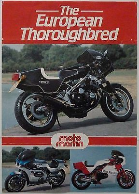 Moto Martin - The European Thoroughbred Sports Motorcycle Sales Brochure - 1970s