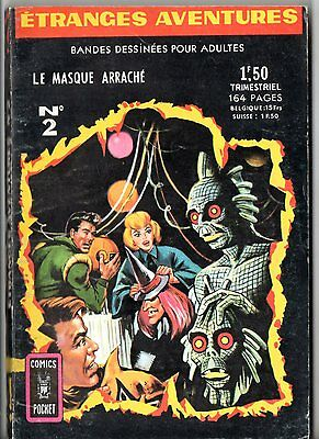ETRANGES AVENTURES n°2 ¤ LE MASQUE ARRACHE ¤ 1966 COMICS POCKET