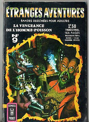 ETRANGES AVENTURES n°9 ¤ L'HOMME-POISSON ¤ 1968 COMICS POCKET