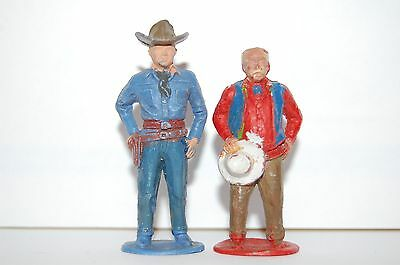 Rare Vintage Timpo Plastic Hopalong Cassidy Series Lucky And California