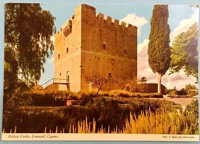 Cyprus postcard: Kolossi Castle, Limassol, by John Hinde, unposted.
