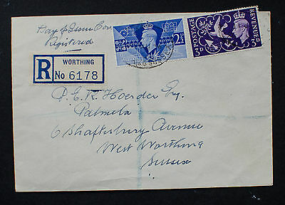 """GB 1946 KGVI """"Victory & Peace"""" Registered FDC"""