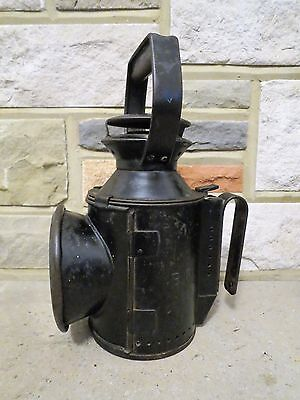 Vintage 1940's British Railways kerosene 3 aspect lamp