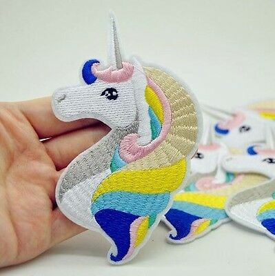 1Pcs Unicorn Patch for Clothing Iron on Embroidered Sew Applique Cute Patch Fabr