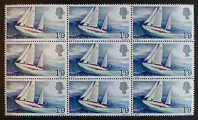 GB 1967 Sir Francis Chichester GIPSY MOTH SG 751 MNH Block of 9
