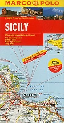 **NEW** - Sicily Marco Polo Map (Marco Polo Maps) (Map) 3829767714
