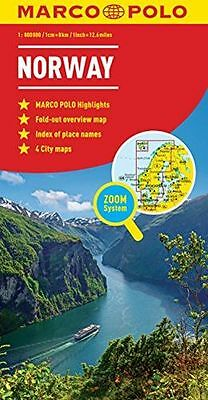 **NEW** - Norway Marco Polo Map (Marco Polo Maps) (Map) 3829767242