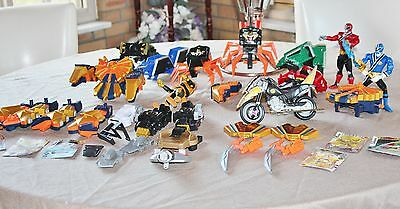 A lot of Power Ranger Mega / Motorcycle / Figures & Loose Parts