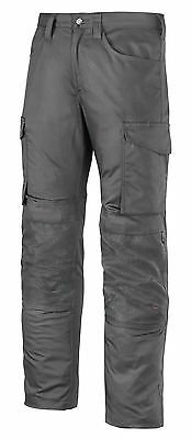 Snickers Trousers 6801 Service Line Snickers Trouser With Knee Guard Steel Grey