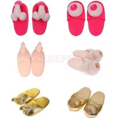 Willy Dicky Boob Boobie Slippers Adult Joke Gift Hen Night Party Funny Gift