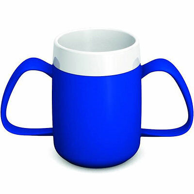 Ornamin Two Handled Mug + internal cone - 200ml - Blue/White - PR65134/BL