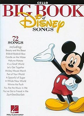 **NEW** - The Big Book Of Disney Songs - Cello (Paperback) 1458411400