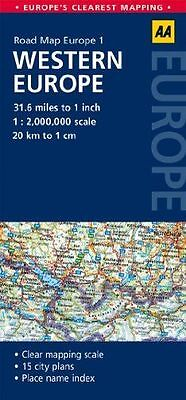 **NEW** - Road Map Western Europe (AA Road Map Europe 1) (Map) 0749575298
