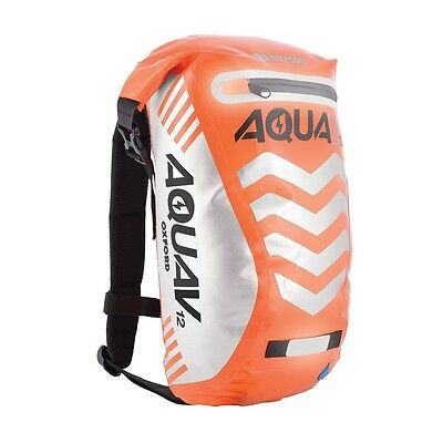Oxford Aqua V12 Waterproof Backpack Rucksack Motorcycle OL954 Orange