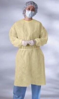 Isolation Gown 100pc Elastic Wrist Polypropylene Disposable Medical Clothing XL