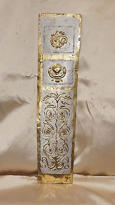 Roman Mainz Gladius Brass scabbard cover decorated silver painted highlights