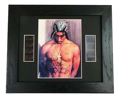 TUPAC Signed PREPRINT TUPAC FILM CELL FRAMED COLLECTORS ITEM 2PAC SHAKUR GIFTS