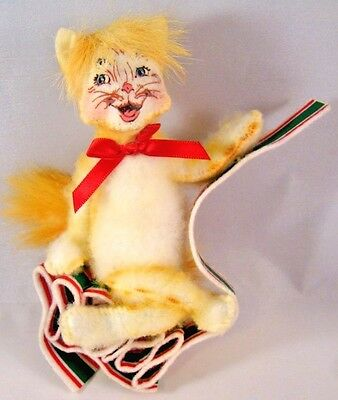 Annalee Dolls Tabby Cat On Ribbon Candy 2010 75th Anniversary