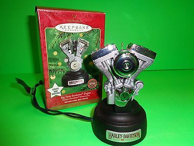 Hallmark Keepsake Ornament Harley Davidson Motorcycles Big Twin Evolution Engine