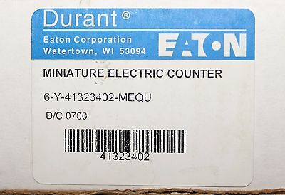 EATON DURANT 6 Y 41323402 MEQU 24VDC 6 Digit Counter