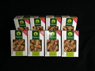 Flamers x 50 Box Multipacks Natural Firelighters for Log Burners & BBQ's
