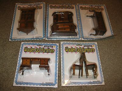 Lot Of Assorted Wooden Doll House Furniture