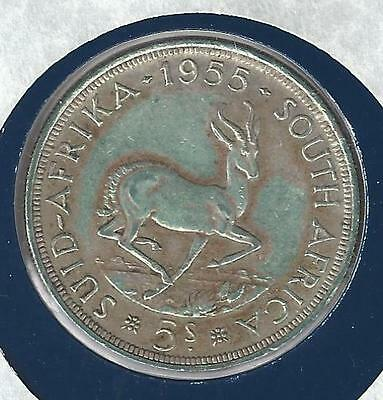 South Africa 5 Shillings, 1955, Great Historic Silver Coin