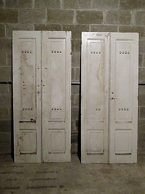 ~ 2 Sets Antique Walnut Cabinet Cupboard Doors ~ Each 33.5 X 77 ~ Salvage ~