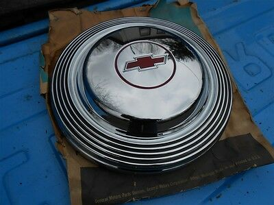 1966 1965 Chevy Impala SS Belair Biscayne dog dish hub cap NOS with wrapper GM
