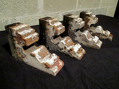 ~ Set Of 4 Ornate Victorian Antique Corbels ~ 9 Tall ~ Architectural Salvage