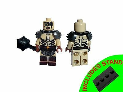 Hobbit Lord Of The Rings  Minifigure Bolg With Weapon And Stand